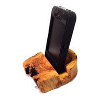 Rustic Log Iphone Stand