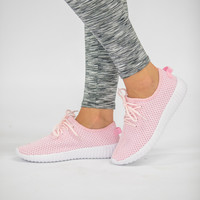 The Lexi Knit Sneakers Pink