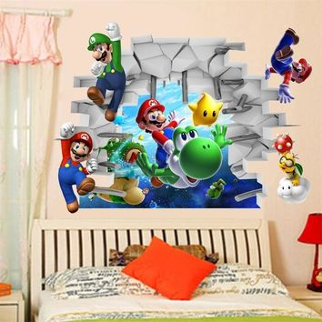 Super Mario party nes switch classical game  come wall stickers for kids room home decorations 1440. cartoon decals children gift 3d mural art 3.0 AT_80_8