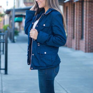 Back To You Jacket, Navy