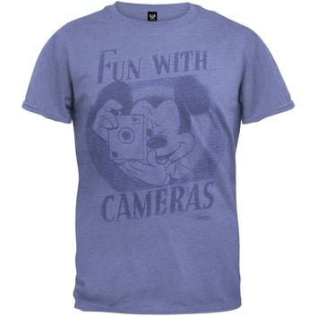 Mickey Mouse - Fun With Cameras Soft T-Shirt