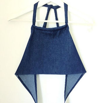 HypoxicAndLost - Handmade - Denim hippie boho festival fashion summer halter crop top