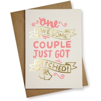 Awesome Couple Card - Wedding Gifts - Oliver Bonas
