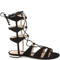 Schutz || Erlina suede Gladiator sandals in black