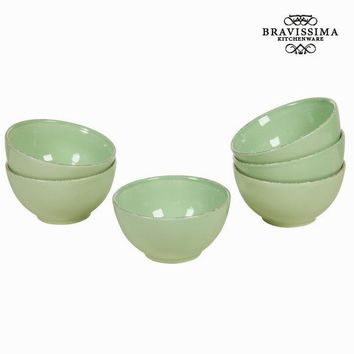Green bowl set of 6 - Kitchen's Deco Collection by Bravissima Kitchen