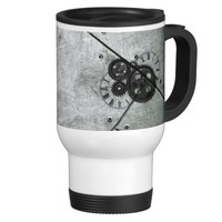 Grunge Steampunk Clocks and Gears 15 Oz Stainless Steel Travel Mug