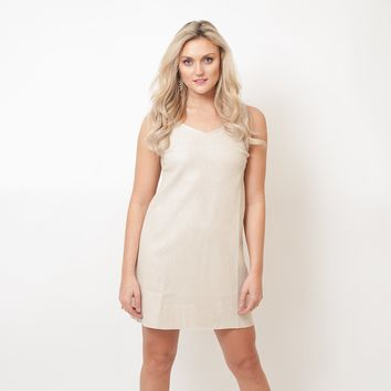 Micro Stud Suede Dress