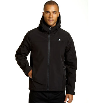 Champion Mens Tall Softshell Jacket With Quilted Synthetic Down
