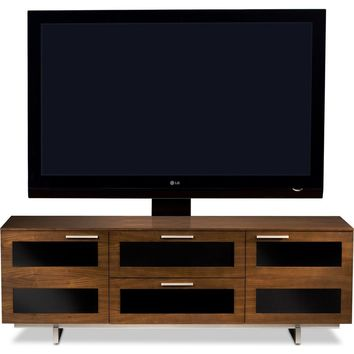Avion II 65 Inch TV Stand & Home Theater Cabinet Chocolate Walnut
