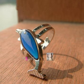 Creative Fine Jwelry For Lovers Mood Rings Change Color Temperature Ring Mood Emotion Feeling Gift Holiday Party Supplies New
