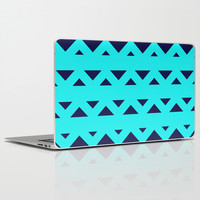 Tribal Triangles Navy Turquoise Laptop & iPad Skin by Beautiful Homes