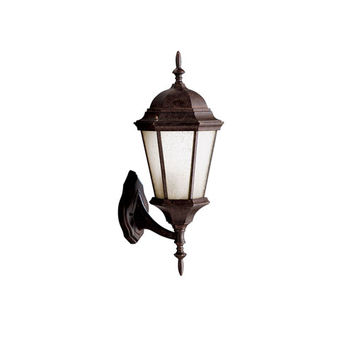 Kichler 10955BK Madison Black One Light 23.25-Inch Large Outdoor Wall Lantern with Satin Etched Glass - (In Black)