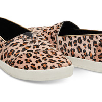LEOPARD PRINTED CALF HAIR WOMEN'S AVALON SLIP-ONS