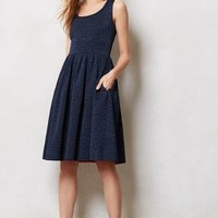 Sleeveless Quilted Aude Dress by Orla Kiely Navy