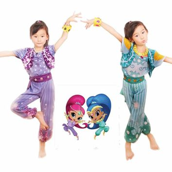 Shimmer and Shine Boxed Shimmer Dress Up Set Pre School Costume Girls Outfit