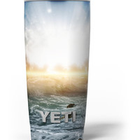 Majestic Sky on Crashing Waves Yeti Rambler Skin Kit