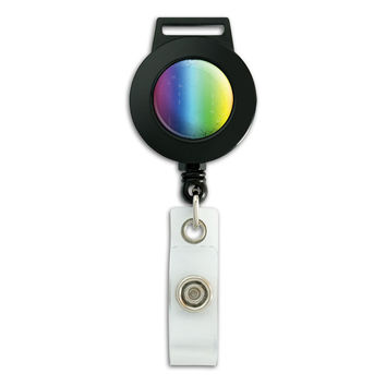 Rainbow Artsy Retractable Badge Card ID Holder