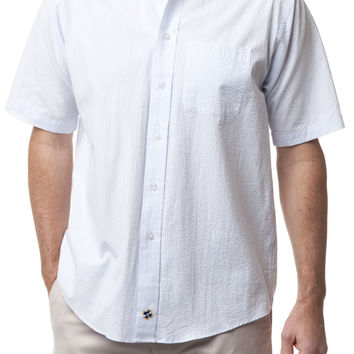 Chase Short Sleeve Shirt Blue Seersucker