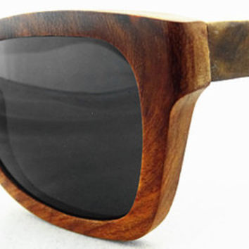 Fashion Polarized Sunglasses Rare Pear Wood