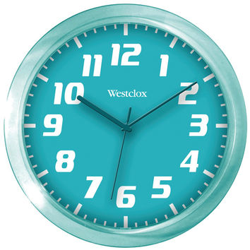 "Westclox 7.75"" Translucent Wall Clock (teal)"