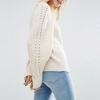 ASOS Jumper with Exaggerated Sleeve at asos.com