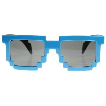 Super Fun Retro Pixelate 8-Bit Geek Sunglasses 8539