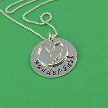 Wanderlust Globe Necklace in Sterling Silver