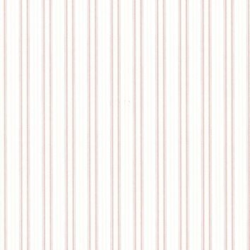 Brewster Wallpaper 2668-21516 Anne Rose Ticking Stripe