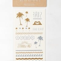 AEO Women's Surf Metallic Temporary Tattoo Set (Mixed Metal)