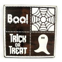 Halloween Rustic Wood Sign Wall Hanging Home Decor  (#1201)