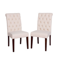Michael Anthony Ivory Tufted Dining Chair Set (Set of 2)