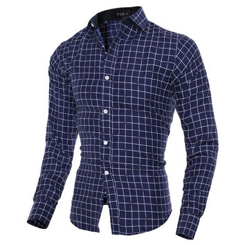 Stripe Line Design Men's Fashion Shirt
