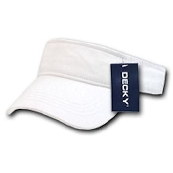 Ponce Blank Decky Cotton Chino Twill Polo Visor Golf Tennis Sun Caps Hat