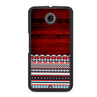 Wooden Aztec Pattern Nexus 6 case