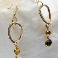 Metal Ring Drop Earrings