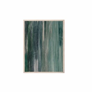 """Ebi Emporium """"Waterfall Blur, Teal Blue"""" Teal Blue Abstract Coastal Painting Mixed Media KESS Naturals Canvas (Frame not Included)"""