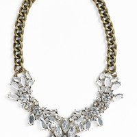 Junior Women's BP. Crystal Cluster Bib Necklace