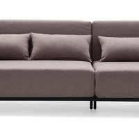 Divani Casa Fairview Brown Fabric Sofa Bed