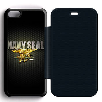 Navy SEAL Log Flip iPhone 5C Case