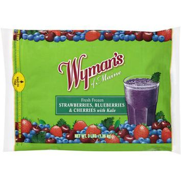 Wyman's of Maine Fresh Frozen Strawberries, Blueberries & Cherries with Kale, 3 lbs - Walmart.com