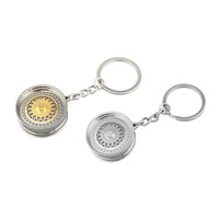 Miniature Wheel Rim Keychain