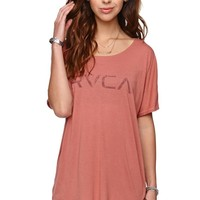 RVCA Big Stamp Scoop T-Shirt - Womens Tee - B