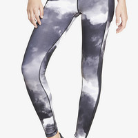 Exp Core Compression Cloudy Sky Legging from EXPRESS