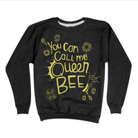 Lorde Royals Sweatshirt | You Can Call Me Queen Bee Sweater GOLD PRINT