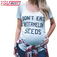 Pregnant Maternity T Shirts Shorts Casual Pregnancy Clothes Letter Women Maternity Clothing Cotton Summer Maternity shirt