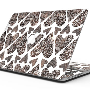 Brown Pebble Hearts - MacBook Pro with Retina Display Full-Coverage Skin Kit