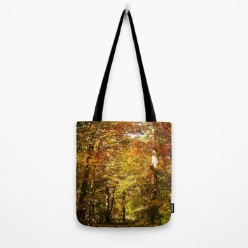 Woods Lake Trail Tote Bag by Theresa Campbell D'August Art