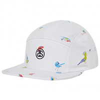 Stussy: Birds 5 Camp Cap - White