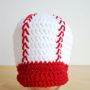 Baby Baseball Cap, Baby baseball hat, crochet hat with brim, crochet baby boy hat, newborn boy hat, sizes Newborn to 12 months available