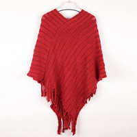 Elegant Fashion Clothes Poncho Cloak Sweaters For Women Autumn Winter christmas sweater Pullovers Knitwear